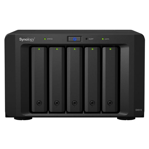 Synology DX513 5 Bays Expansion Unit for DS1813+, DS1812+, DS1513+, DS1512+, DS1511+, DS1010+, DS713+, DS712+, DS710+