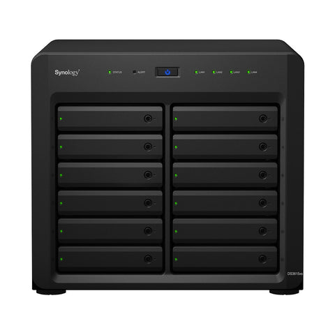 Synology DS3615XS 12 Bays (Expandable up to 36 Bays 216TB), Dual Core 3.14GHz CPU, 4GB ECC RAM (Expandable up to 32GB)