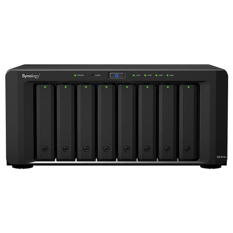 Synology DS1815+ 8 Bays (Expandable up to 18 Bays 108TB),Quad Core 2.4GHz CPU, 2GB DDR3 RAM (Expandable up to 6GB)