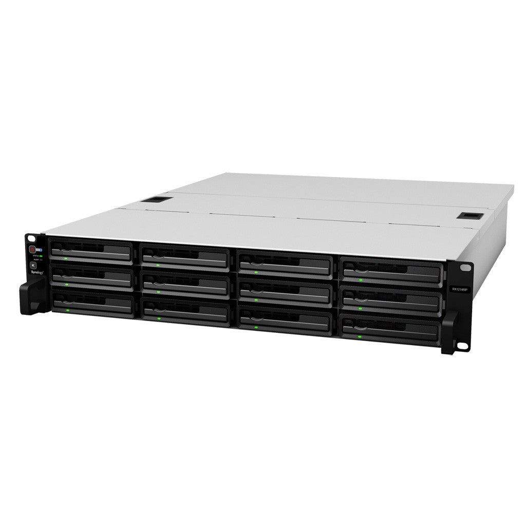Synology RX1214RP 12 Bays Rackmount Expansion Unit for RS3614xs+, RS2414(RP)+, RS3413xs+, RS3412(RP)xs, RS3411(RP)xs, RS2212(RP)+, RS2211(RP)+,