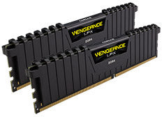 Corsair Vengeance 16GB Kit (2x8GB) 2666MHz DDR4 LPX Ryzen Black C16