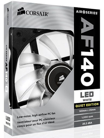 Corsair Air Series AF140 LED Quiet Edition High Airflow Fan - White