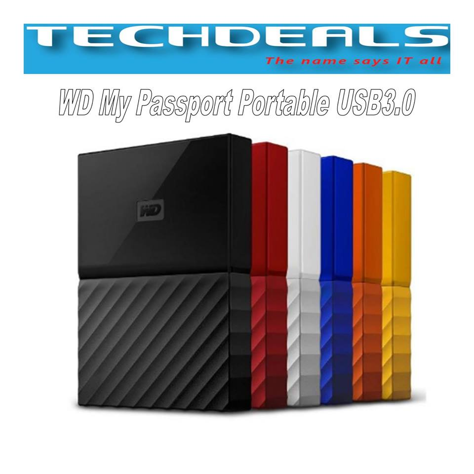 WD MY PASSPORT PORTABLE STORAGE 4TB ORANGE USB3.0 - 3yrs Warranty