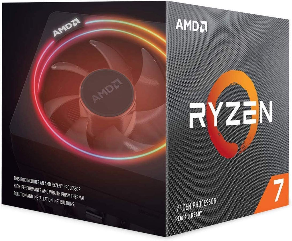 RYZEN 7 3700X 8 Cores Processor with Wraith Prism Cooler