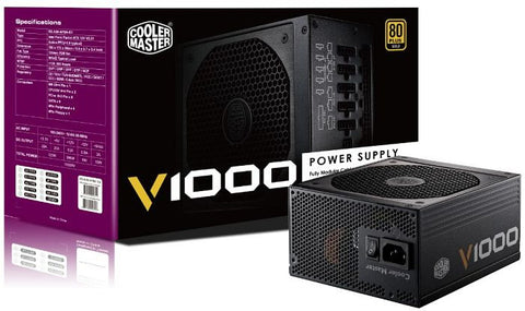 Coolermaster V1000 F-Modular 80+Gold Psu 7Yrs