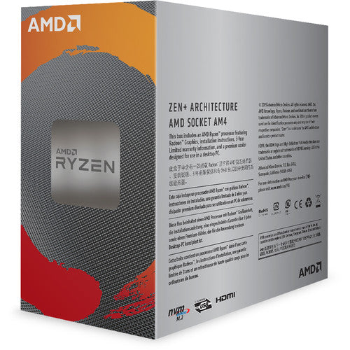 RYZEN 3 3200G 4 Cores Processor with Wraith Stealth Cooler & Radeon Vega 8 Graphics