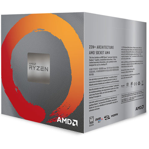 RYZEN 5 3400G 4 Cores Processor with Wraith Stealth Cooler & Radeon Vega11 Graphics