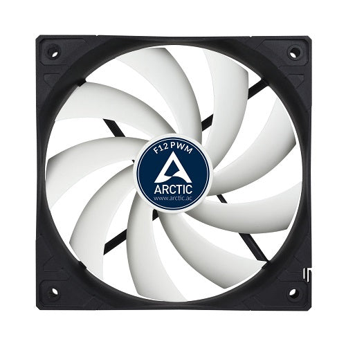 ARCTIC F12 4-Pin 12cm PWM Casing Fan - White w/Black Frame