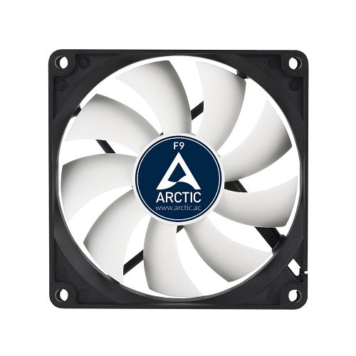 F9 3-Pin 9cm Casing Fan - White w/Black Frame