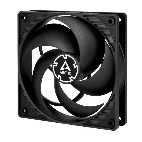 P12 4-Pin 12cm PWM High Static Pressure Casing Fan - Black w/Black Frame