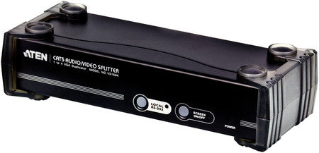 Aten VS1504T 4-port Cat 5 VGA Splitter. Stero Audio / RS232 enabled. 150m. 1600x1200@60Hz. Cascade 3 Levels