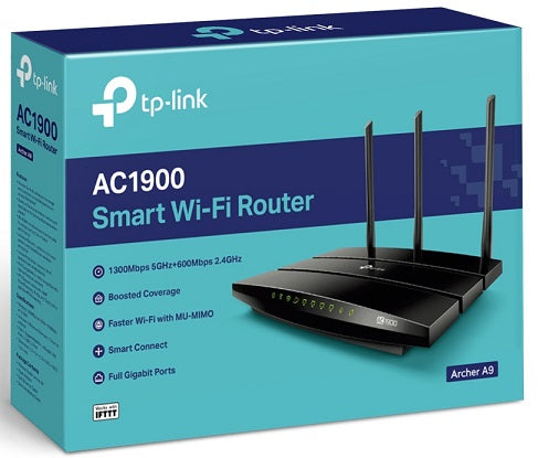 Archer A9 AC1900 Wireless MU-MIMO Gigabit
