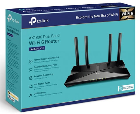 Archer AX20 AX1800 Dual-Band Wi-Fi 6 Router