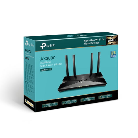 Archer AX50 AX3000 Dual Band Gigabit Wi-Fi 6 Router