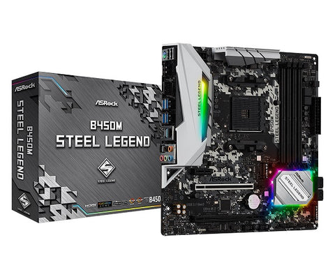 B450M Steel Legend AMD Socket AM4 mATX Motherboard