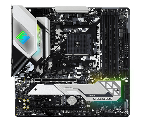 B550M Steel Legend AMD Socket AM4 mATX Motherboard