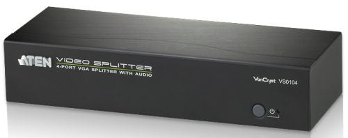Aten VS0104 4 Port VGA Splitter with Audio, 450MHz,  1920x1440, 65m booster