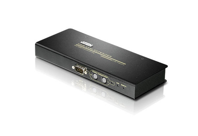 Aten CE750 USB KVM Extender. Audio & Serial enabled. VGA gain control. 1920x1200@60Hz at 30m; 1600x1200@60Hz at 150m;1280x1024@60Hz(200m)