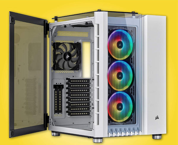 Crystal Series 680X RGB High Airflow Tempered Glass ATX Smart Case -White