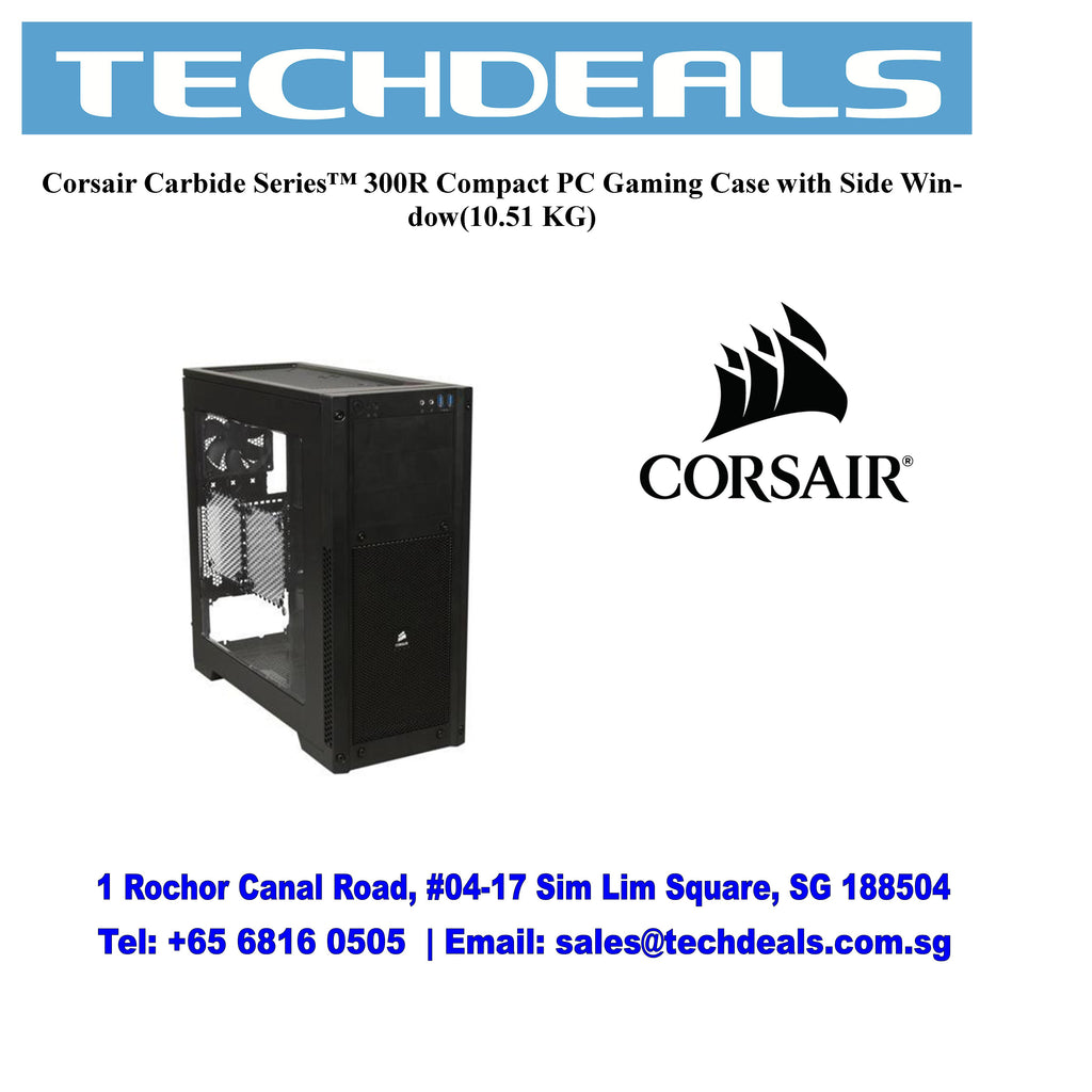 Corsair Carbide Series™ 300R Compact PC Gaming Case with Side Window