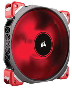 Corsair ML140 Pro LED, Red, 140mm Premium Magnetic Levitation Cooling Fan