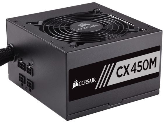 Corsair CX Series™ Semi-Modular CX450M ATX Power Supply — 450 Watt 80 PLUS® Bronze PSU