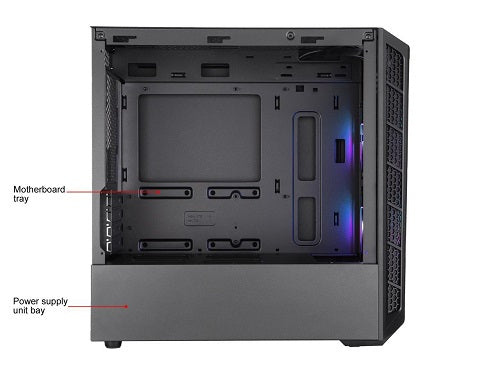 MasterBox MB320L ARGB m-ATX Case with Tempered Glass