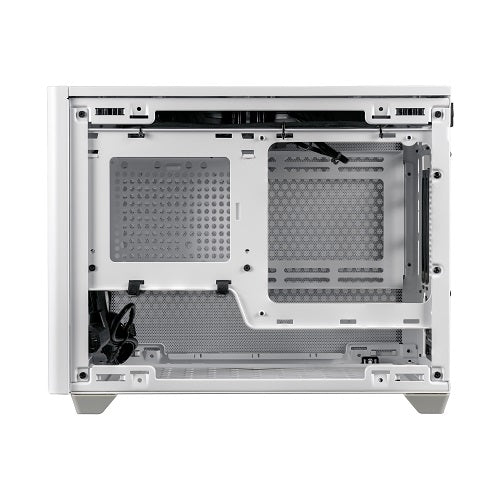 NR200P SFF Small Form Factor mITX Case with Tempered Glass Side Panel | Black | White
