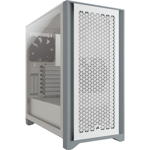 4000D AIRFLOW Tempered Glass Mid-Tower ATX Case with 2*120mm Fans - White