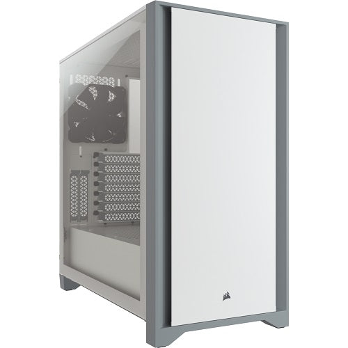 4000D Tempered Glass Mid-Tower ATX Case with 2*120mm Fans