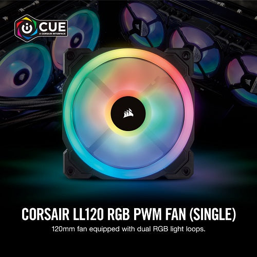 LL120 RGB 120mm Dual Light Loop RGB LED PWM Fan — Single Pack
