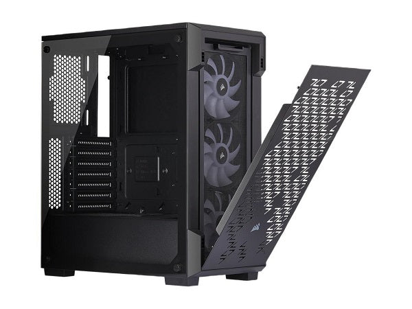 iCUE 220T RGB Airflow Tempered Glass Mid-Tower Smart Case, Black