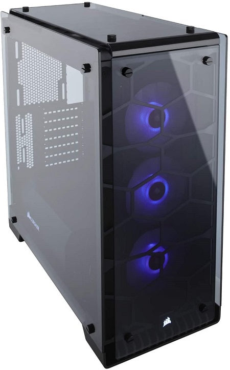Crystal Series 570X RGB ATX Mid-Tower Tempered Glass Case - Black