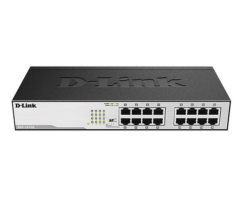 Gigabit Unmanaged Desktop/Rackmount Metal Switch | 16-Port | DGS-1016D