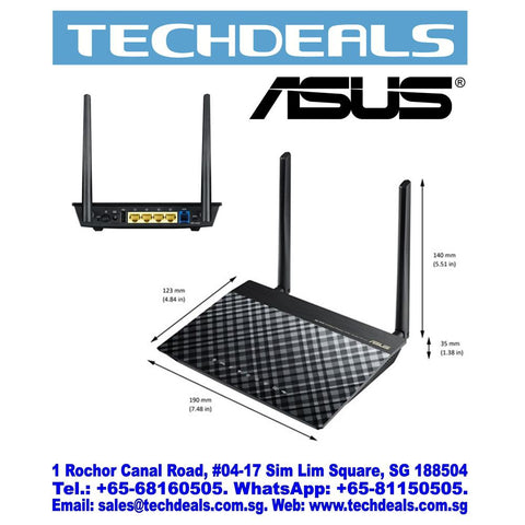 Asus DSL-N12U/C1 Wireless N300 ADSL Modem Router