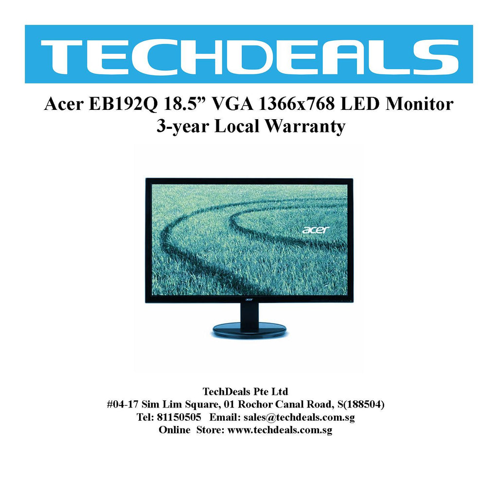 "Acer EB192Q 18.5"" VGA 1366x768 LED Monitor"