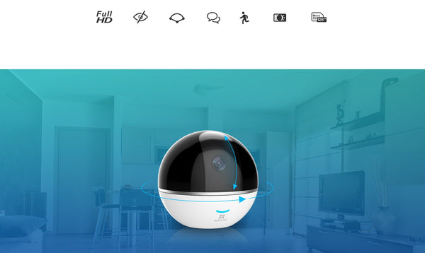 C6T 1080p Pan and Tilt Wireless IP Camera with Built-in Alarm Hub