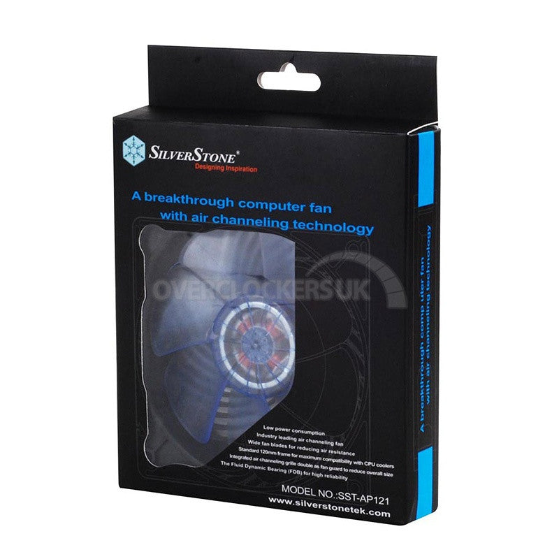 SILVERSTONE AIR PENETRATOR (Transparent blue UV fan blades, black frame)