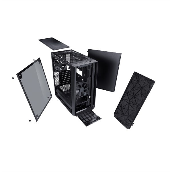 Meshify C Blackout - Dark Tempered Glass