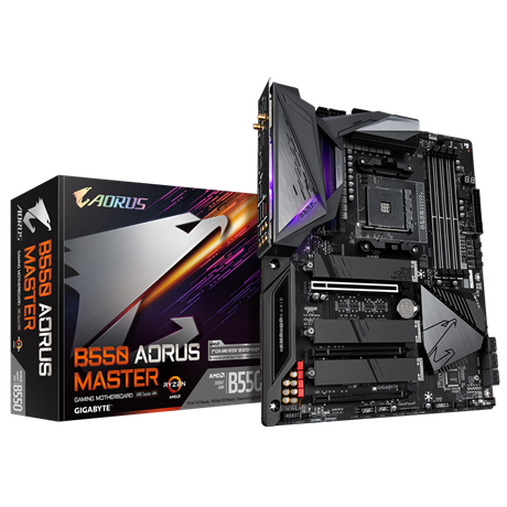 B550 AORUS MASTER AMD Socket AM4 ATX Motherboard