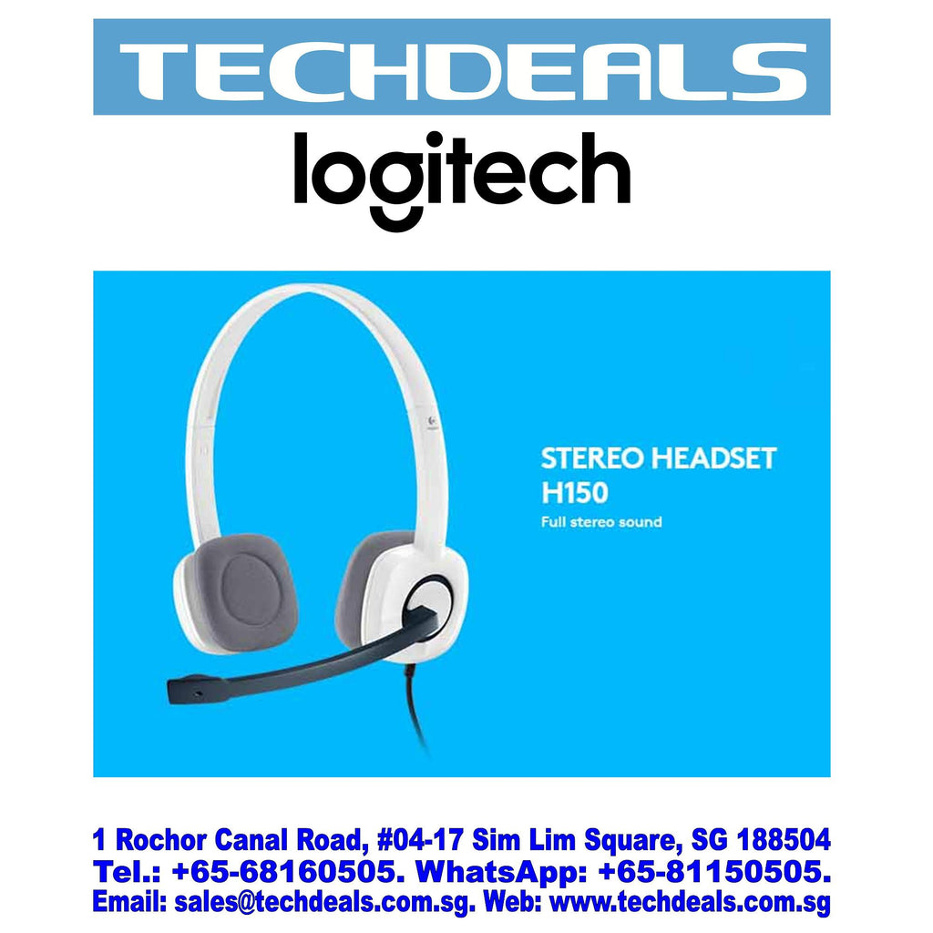 LOGITECH H150 STEREO HEADSET CLOUD WHITE (2Y)