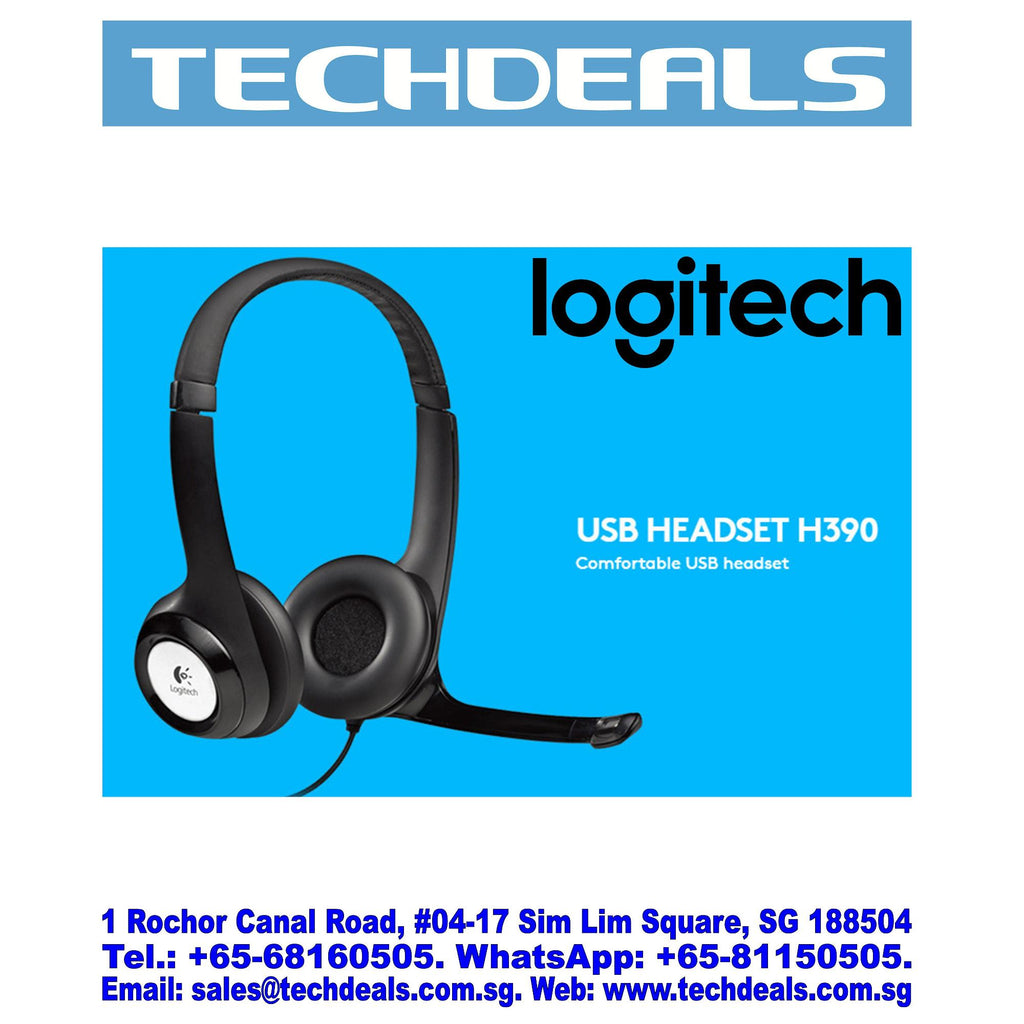 LOGITECH H390 USB STEREO HEADSET (2Y)