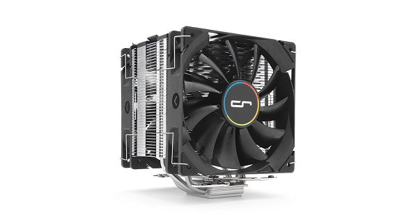 Single Tower Heatsink Air Cooler with 2 x QF120 120mm Fans | for Intel and AMD | H7 Plus
