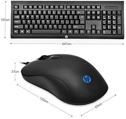 KM100 Wired USB Keyboard and Optical Mouse Combo - Black
