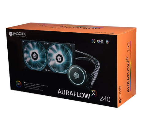 Auraflow X 240 CPU AIO Liquid Cooler 240mm Radiator, RGB XL Pump and 2*12cm Fan