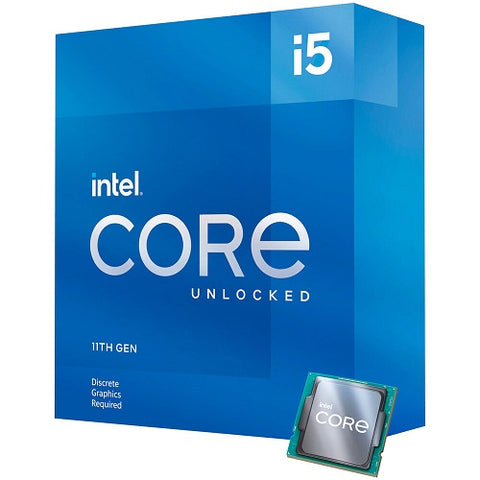 Core™ i5-11600KF 12M Cache, up to 4.90 GHz Socket 1200 11th Gen Processor (No Cooling Fan)