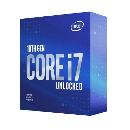 Core i7-10700KF 8 Core, 16M Cache, up to 5.10 GHz Socket 1200 Processor [Graphics Card Required]