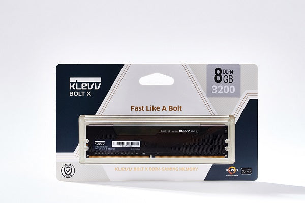 Bolt X DDR4-3200 CL16 1.35V UDIMM PC Gaming RAM Memory w/Heatsink - 8GB