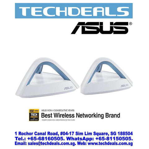 Asus Lyra Trio-20 (2-packs) Dual Band AC1750 Wifi Mesh System