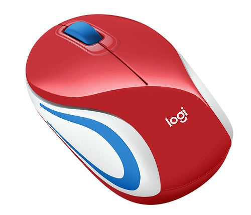 M187 Portable USB Wireless Mouse | Black | Blue | Red | White